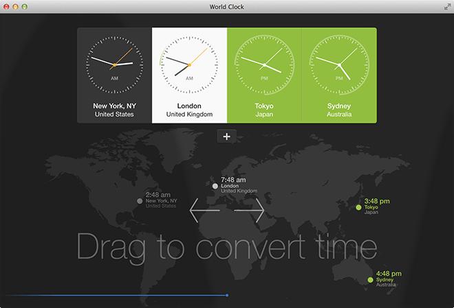 World Clock - Start Screen