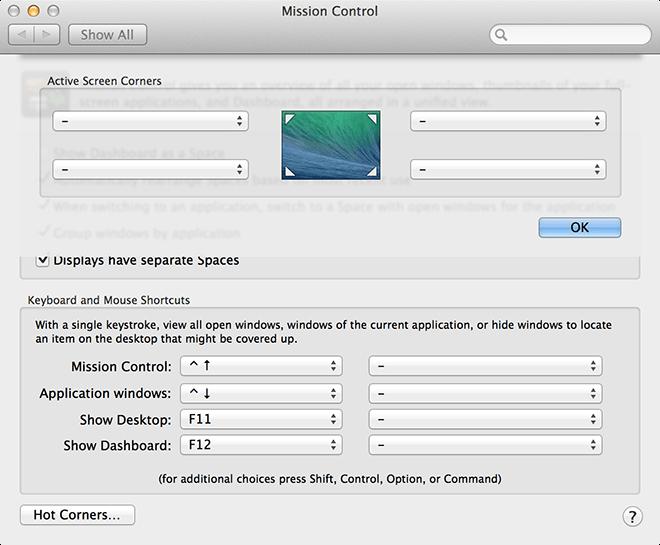 Mac Work Config - Hot Corners