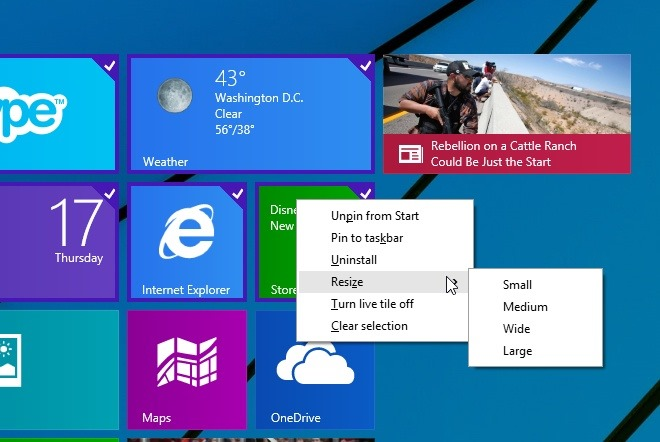 How To Select Multiple Tiles In Start Screen Of Windows 8.1 Update 1