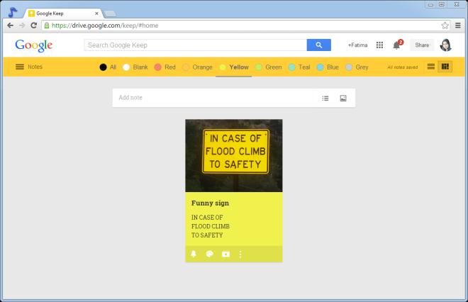 google keep color bar