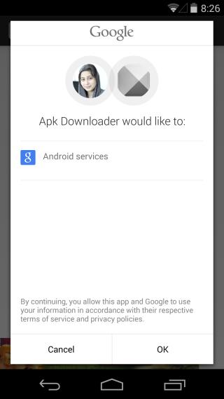 Apk Downloader Extension permission