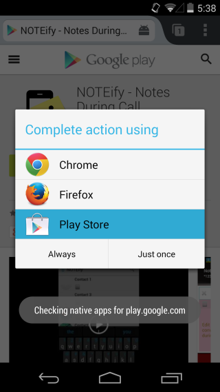 choose native app
