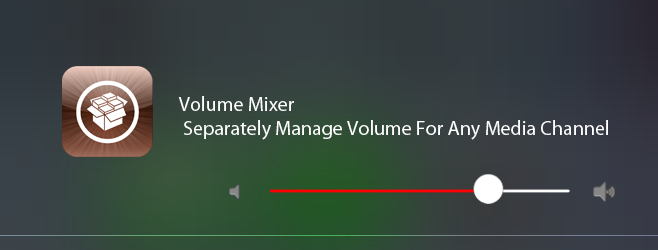 Volume Mixer: Separately Manage Volume For Any Media Channel [Jailbreak]