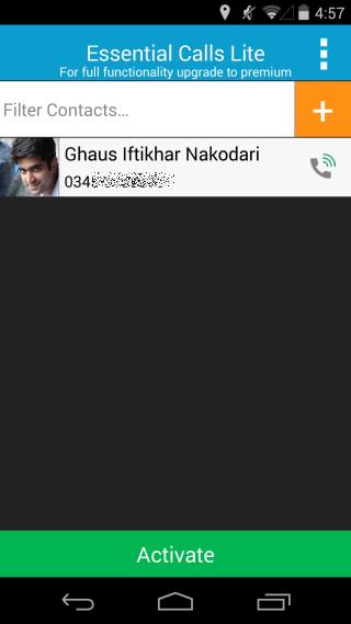 Essential Calls contact