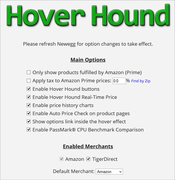 Hover Hound Options