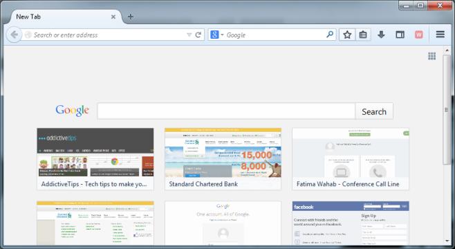 New Tab - Mozilla Firefox