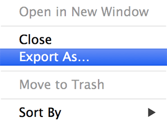 Changing Icons - Export As