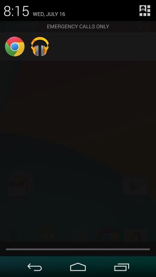 headset  menu notification