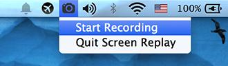 Screen Replay - Menubar