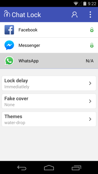 Chat Locked apps