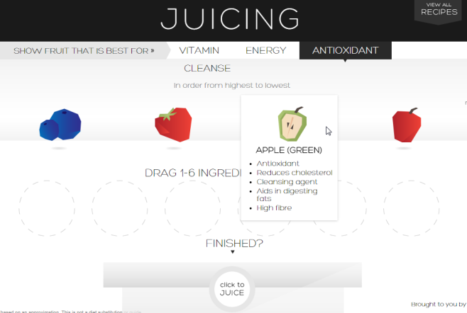 Juicing Assistant ingredients
