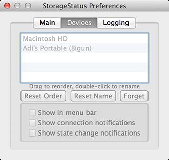 StorageStatus - Adjust