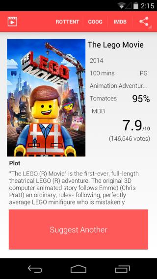 Suggest Movie suggestion