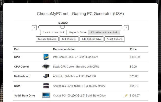 ChooseMyPC items
