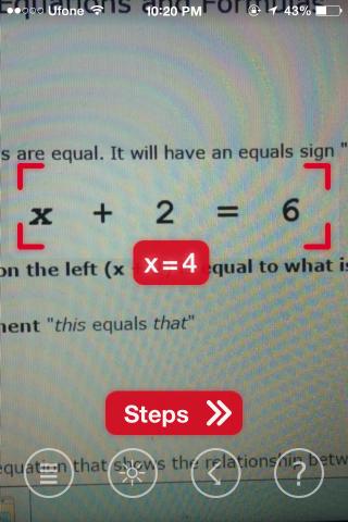 PhotoMath Solve answer