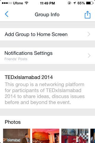 Facebook Groups homescreen