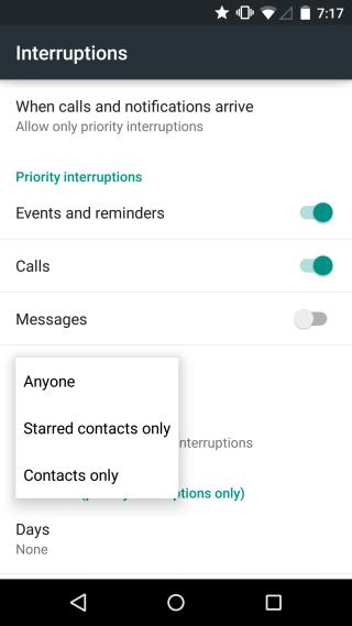 interruptions customize 1