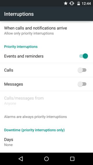 interruptions customize