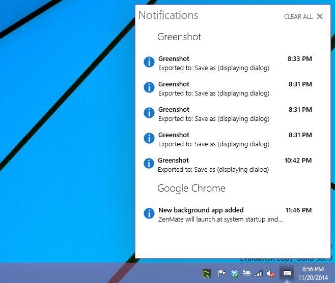 notification center 9879