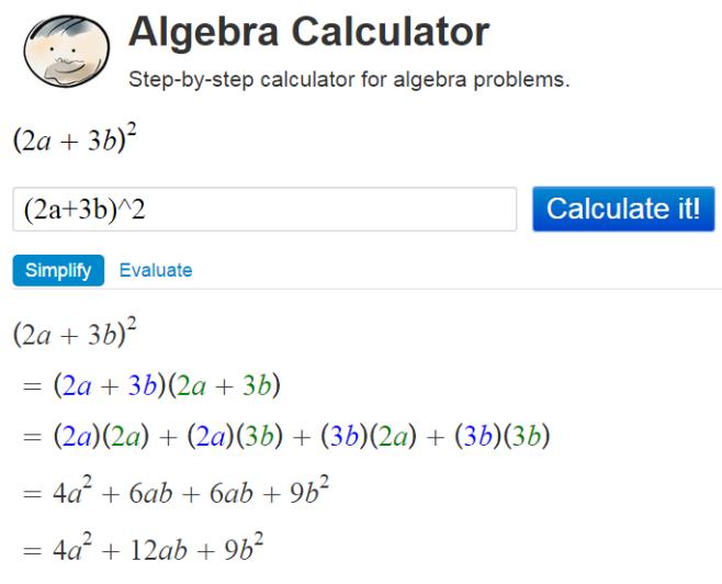Algebra Calculator2