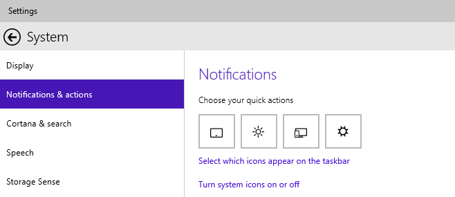 notification center actions