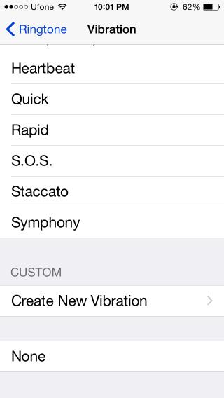 ios vibration