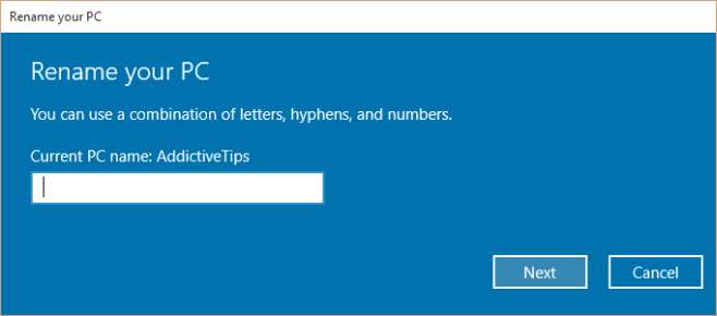 win10-Rename your PC
