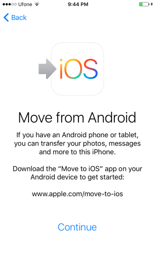iphone-move from android