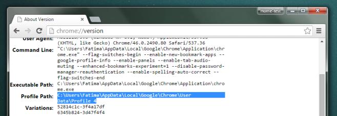 chrome-user profile-folder