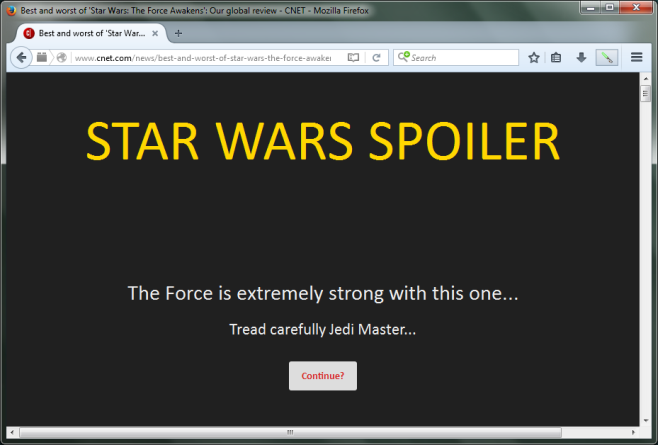 Spoiler Jedi