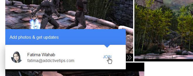 join shared google photo album