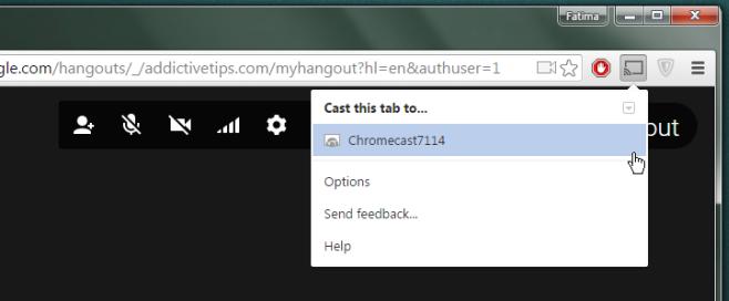 Google Hangouts - cast
