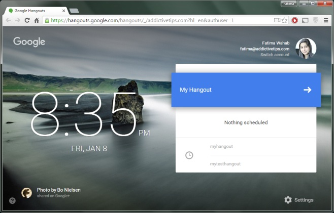 Google Hangouts - name