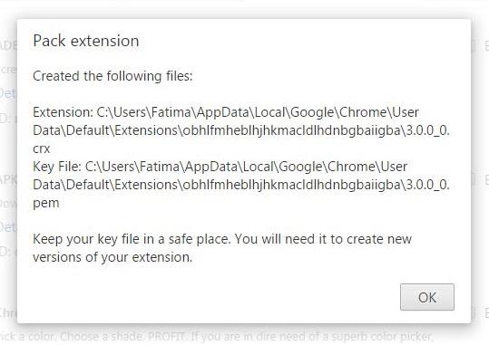 chrome-pack-extension-key