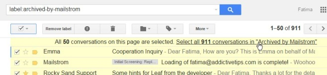 gmail select all label
