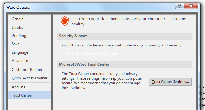 ms-word-trust-center