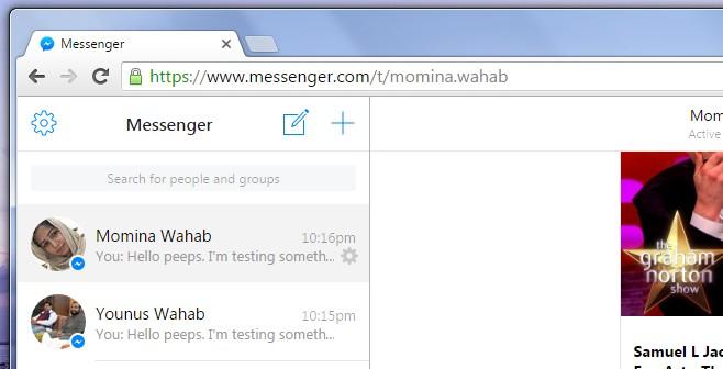 Messenger Merge sent