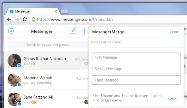 Messenger Merge