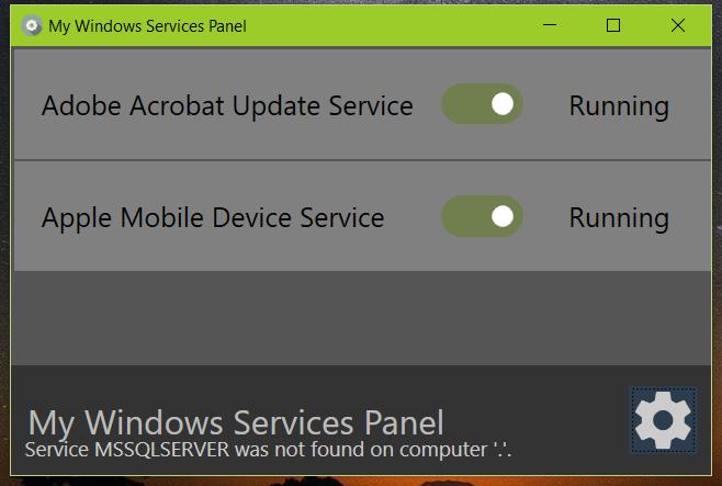 My Windows Service Panel