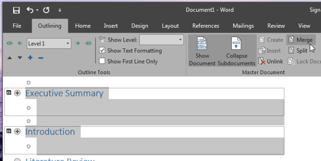 ms word 2016 merge doc