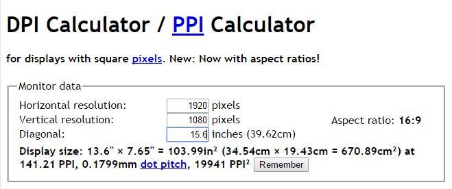 DPI Calculator