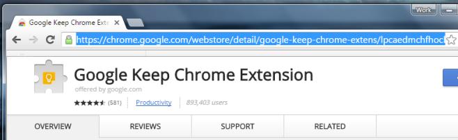 chrome web store link