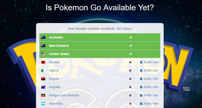 Is Pokemon Go Available Yet