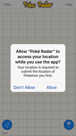 Poke Radar-location