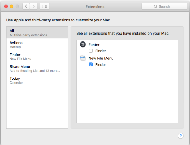 macOS-extensions