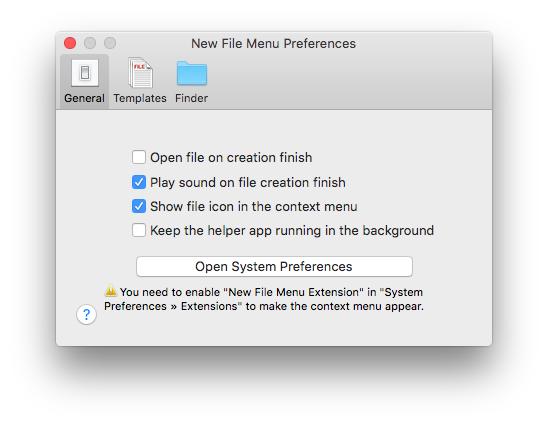 new file menu-pref