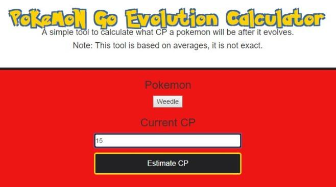 pokemon evolution calculator