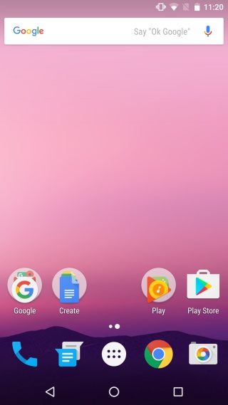android default display