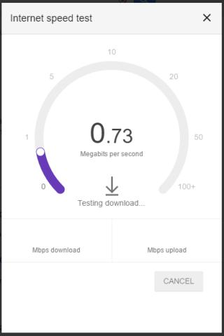 speed test running