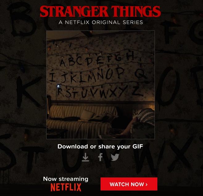 stranger things wall gif